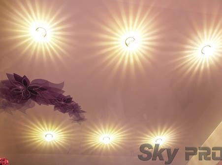 Хрустальные потолочные светильники