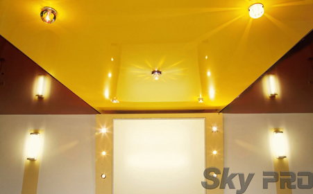 Стеклянные светильники для натяжных потолков
