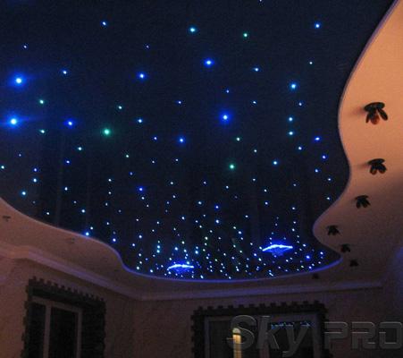 Натяжной потолок звездное небо фото